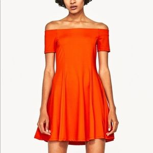 Zara Trafaluc Orange Stretch Dress